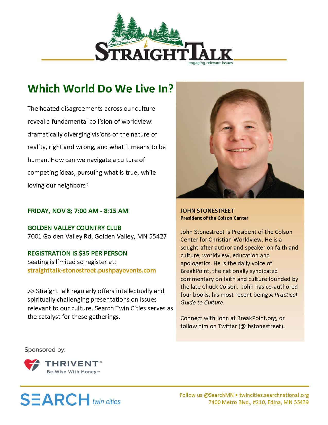 Straight Talk with John Stonestreet