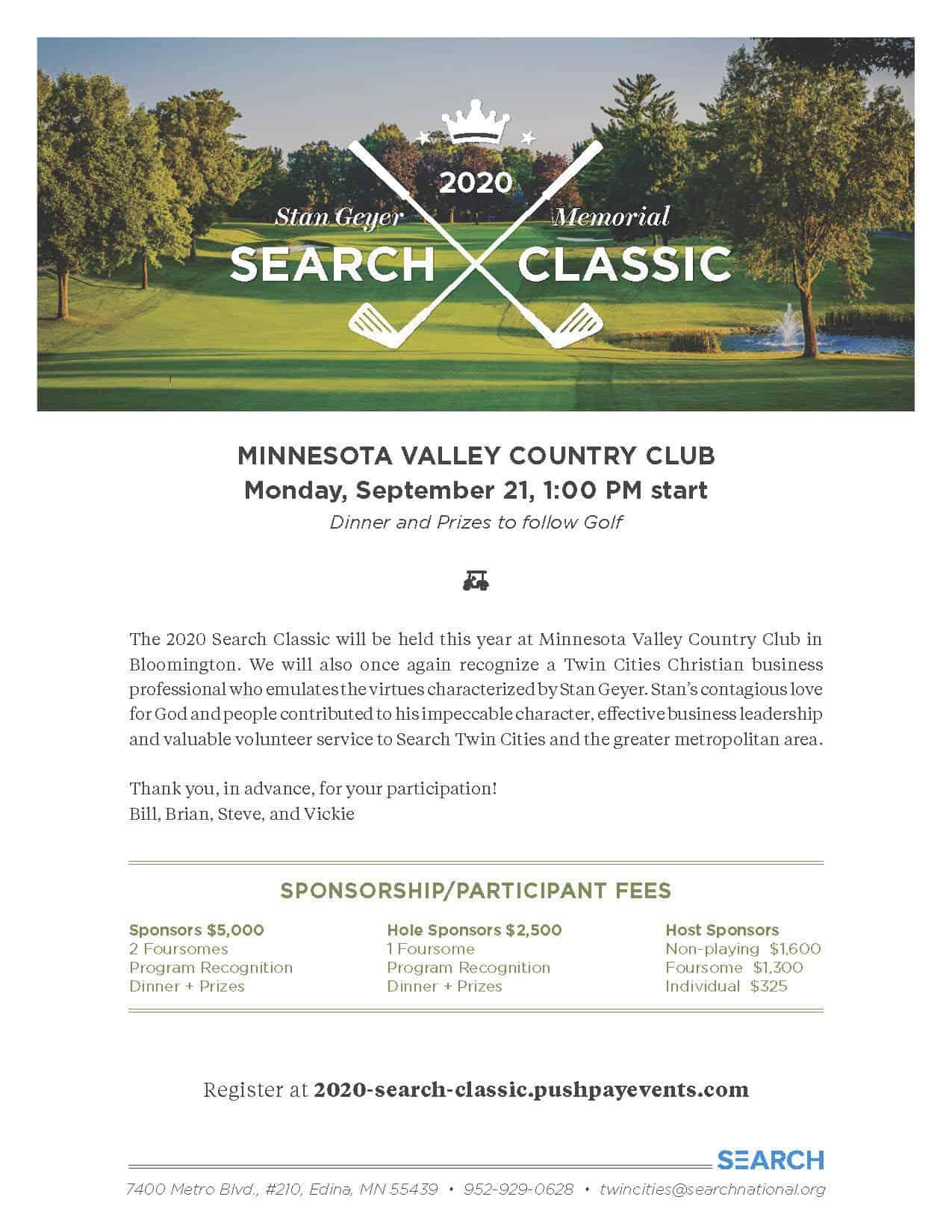 2020 Stan Geyer Memorial Golf Classic
